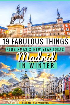 Visiting Madrid in Winter? Everything you need to know about planning an amazing trip in winter to the Spanish capital. Including 19 things to do in Madrid in winter. Europe Destinations, Amazing Destinations, Spain Travel, Travel Europe, European Travel, Visit Madrid, Madrid City, Madrid Travel, Packing List For Travel