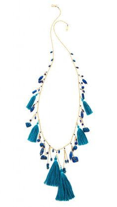 Lapis Tassel Necklace