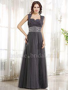 Sheath / Column Strapless Sweetheart Long / Floor-Length Satin Chiffon Tulle Prom Dress - PD6652 - US$ 149.99