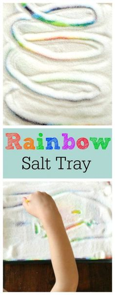 Creative Halloween Costumes - The Best Way To Be Artistic Over A Budget Make A Gorgeous Rainbow Salt Tray Out Of A Preschoolers Own Painting Such A Fun Idea. Rainbow Activities, Quiet Time Activities, Activities For 2 Year Olds, Kids Learning Activities, Creative Activities, Sensory Activities, Hands On Activities, Infant Activities, Painting Activities