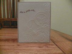 Embossed Butterfly Thinking of You handmade by Cardsdesignedbymary