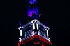 Ce samedi, le beffroi de Mons s'est illuminé en bleu blanc rouge (Belgique) Mons, Paris Attack, Red White Blue, Belgium
