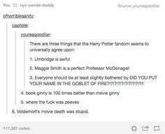 "When they finally figured out that there were some things they all agreed on. | 29 Times Tumblr Raised Serious Questions About ""Harry Potter"""