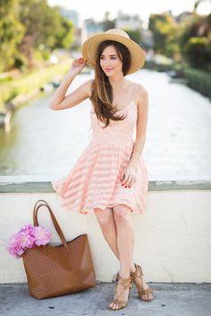 wide brim hat with classic dress
