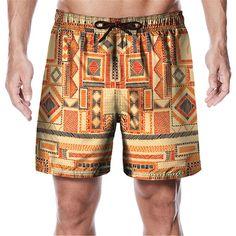 Printed Shorts, Patterned Shorts, Men's Bottoms, Surf Shorts, Shirt Blouses, Shirts, Swimwear Fashion, Summer Shorts, Surfing