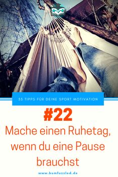 Sport Motivation Tipp 33: Mache einen Ruhetag, wenn du eine Pause brauchst. #motivationssprüche #motivation #motivated #motivationalquotes #motivationalmonday
