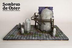 Mesa de juego, módulo de 35x35 cm. http://sombrasdeoster.blogspot.com.es/