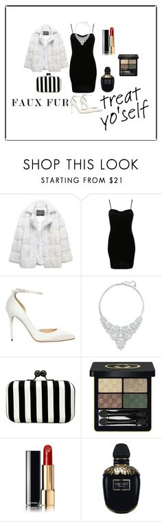 """""""Untitled #40"""" by permata-ap ❤ liked on Polyvore featuring Lilly e Violetta, Pilot, Jimmy Choo, Swarovski, La Regale, Gucci, Chanel and Alexander McQueen"""