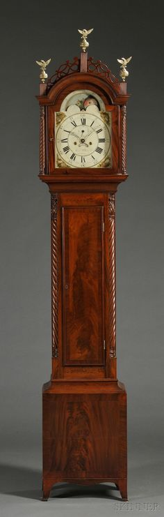 Clocks by James Lea Reproduction Grandfather Clock and Wall Clock