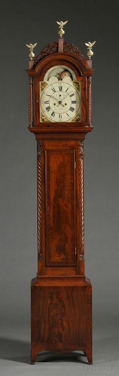 Aaron Willard Jr. Mahogany Tall Clock