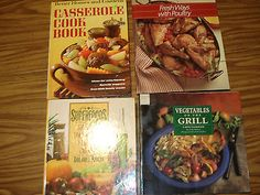 4 Books Superfoods Vegetables Grill Poultry Chicken Casseroles Cookbooks #9