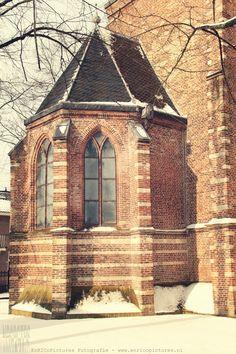Deel van de Westerkerk in de winter van 2017