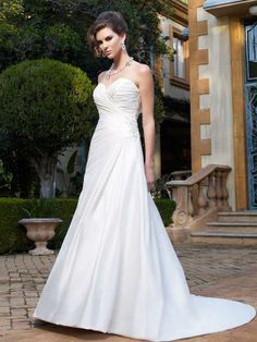 Claire-Vestido de Noiva em cetim - dresseshop.pt