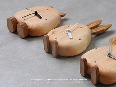 prs | Rakuten Global Market: Plastic artist, Takahashi Shin-Shi made natural solid wood table clock TIME series (pion-time/chu-time/kaba-time)