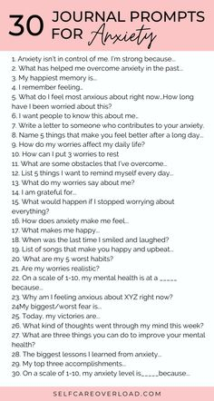 30 journal prompts for anxiety. Find relief from stress and anxiety with these journal prompts. Learn ways to reduce anxiety symptoms and find relief through journaling. Here are 30 journal prompts for anxiety that will change your life in Anxiety Tips, Anxiety Help, Social Anxiety, Stress And Anxiety, Things To Help Anxiety, Coping Skills For Anxiety, Quotes For Anxiety, Anxiety Facts, Health Anxiety