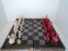 Online veilinghuis Catawiki: Antiek Ivoren schaakspel - China - 19e eeuw