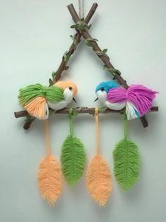 Diy Crafts For Home Decor, Diy Crafts Hacks, Diy Crafts For Gifts, Diy Arts And Crafts, Creative Crafts, Yarn Crafts, Crafts For Kids, Woolen Craft, Paper Crafts Origami