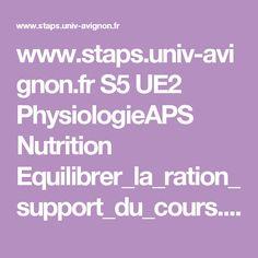 www.staps.univ-avignon.fr S5 UE2 PhysiologieAPS Nutrition Equilibrer_la_ration_support_du_cours.pdf