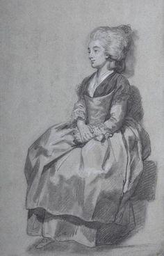 Miniature Paintings, 18th Century Fashion, Painted Ladies, French Revolution, Sculpture, Woman Painting, Belle Epoque, Portrait, Joseph