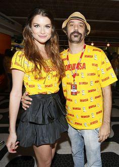 Alinne Moraes e o marido (Foto: Gil Rodrigues/Foto Rio News)
