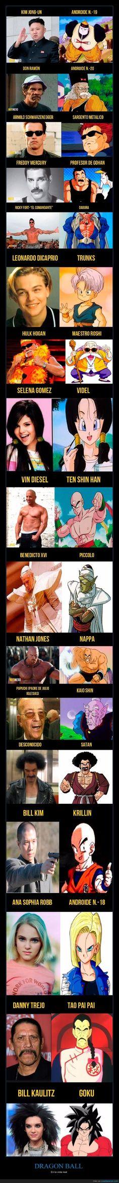17 Personas de la vida real que se parecen a los personajes de Dragon Ball Z - En la vida real
