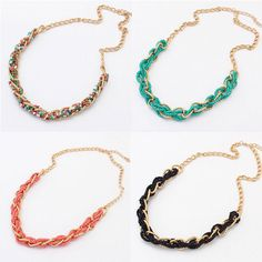 Vintage Colorful Bead Bib Statement Women Necklace Collar Chain Fashion Jewelry #Unbranded #Choker