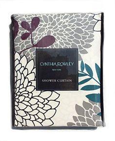 DKNY Botanical Nature Gray 100 Cotton Shower Curtain