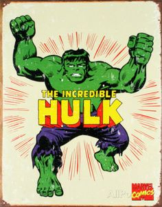 The Incredible Hulk Tin Sign at AllPosters.com