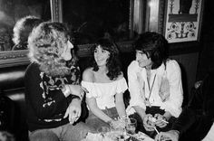 Robert Plant of Led Zeppelin with Linda Ronstadt and Ronnie Wood