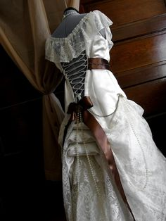 Curiouser and Curiouser - Steampunk Wedding Dress / Gears and lace dress