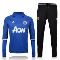 Manchester United Blue Men Tracksuit Slim Fit Item Specifics Brand  Adidas  Gender  Men s Adult Model Year  Material  Polyester Type of Brand Logo  ... 94f97ed6334f7