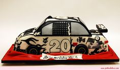 Birthday Nascar Style Cake by Pink Cake Box