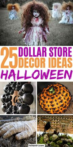 25 Cheap Halloween Decor DIY ideas from the Dollar Store that'll spook your friends! These DIY Halloween decor ideas are perfect for the upcoming Halloween! diy decor dollar stores 25 Dollar Store Halloween Decor DIY Ideas That Are Spooky Soirée Halloween, Adornos Halloween, Dollar Store Halloween, Dollar Tree Halloween Decor, Halloween College, Halloween Office, Halloween Labels, Halloween Couples, Halloween Parties