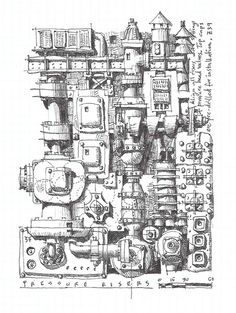 Pressure Risers - machine parts art - by  Floater