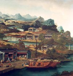 George Chinnery - Tea Trade  in China
