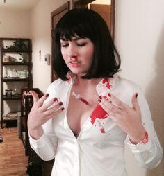 This iconic Pulp Fiction costume:   35 Borderline Genius Halloween Costumes For Movie Lovers