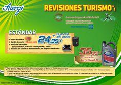 Oferta Rebajas Enero-Febrero 2014 - Revisión Aurgi Estándar (incluye cambio del filtro de aceite). Más información en http://www.aurgi.com/index.php/ofertas