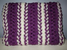 Hairpin lace blanket