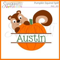Sanqunetti Design: Split Pumpkin Clipart