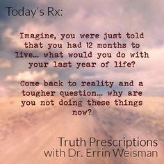 Reality Truth - Truth Prescriptions with Dr. Errin Weisman