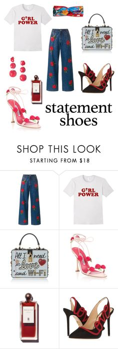 """Statement Shoes"" by shopsmth on Polyvore featuring Ashish, Dolce&Gabbana, Manolo Blahnik, Charlotte Olympia and Gucci"