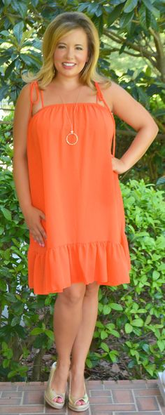 Within The Tides Dress - Orange - Perfectly Priscilla Boutique