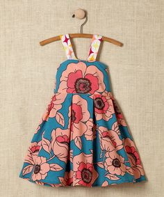 Blue Floral Cross-Back Dress. Just bought this from #zulily. How darling!