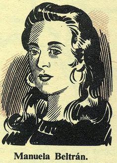 Manuela Beltrán era un Colombian chica quien organizado un revuelta de campesino en contra de impuestos en 1780. Granada, World, Drawings, Google, Vestidos, Read And Write, Women In History, 18th Century, Characters
