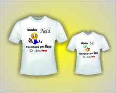 kit camiseta Vó e Neta.