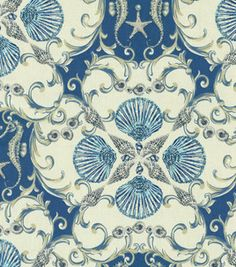 Home Decor Upholstery Fabric Waverly Jewel Of The Sea Marine Home Decor Fabric