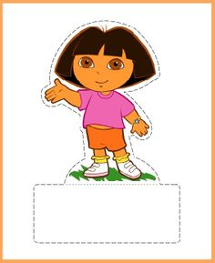Dora Party doll to print and play