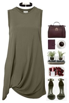 """""""15.3.17 // 00:19"""" by theonlynewgirl ❤ liked on Polyvore featuring Schutz, Witchery, Karen Walker, Nude, Anissa Kermiche and TravelSmith"""