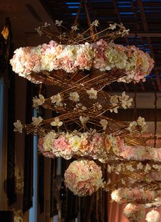 25 Suspended Floral Decorations – Tulle Tales