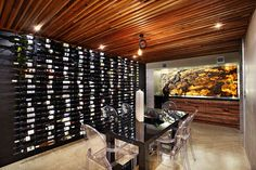 I like this display of wines!